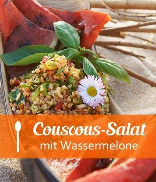 Melone mit Couscoussalat