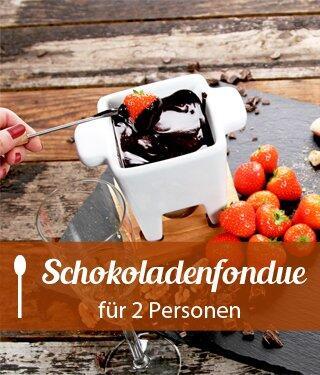 Schokoladenfondue für 2 Personen