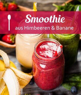 Himbeer-Bananen-Apfel Smoothie