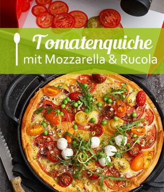 Bunte Tomatenquiche
