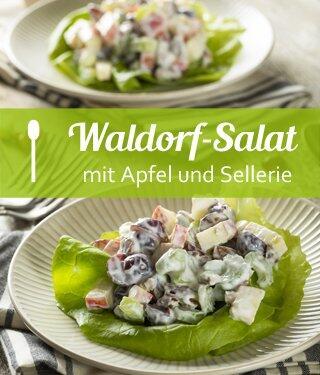 Waldorf-Salat mit Apfel und Sellerie