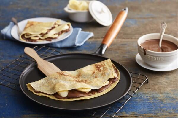 Crêpes mit Nutella und Banane