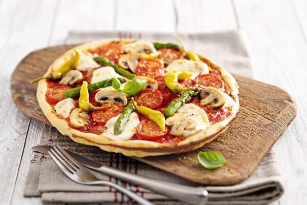Mediterrane Gemüsepizza