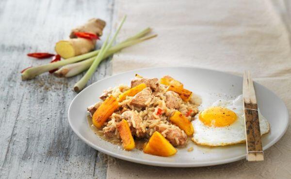 Hühner-Reis mit Ananas