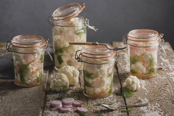 Mixed Pickles oder eingelegtes Gemüse