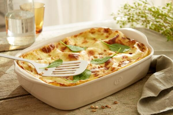 Lasagne mit Spinat und Roquefort