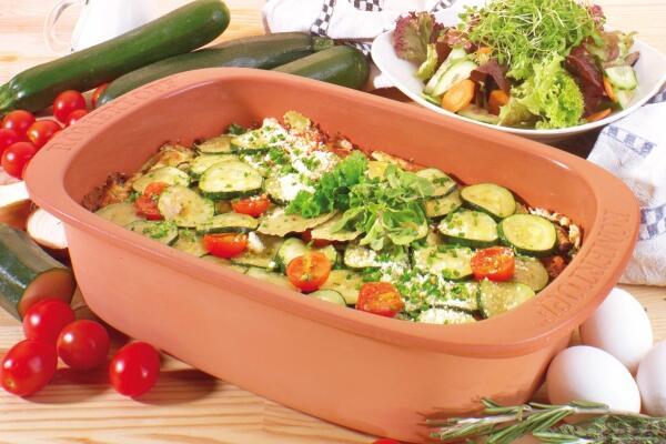 Zucchini-Auflauf im Römertopf