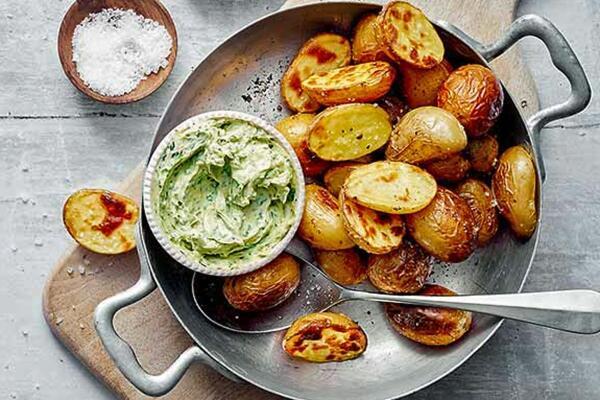 Kartoffeln mit Bärlauchbutter