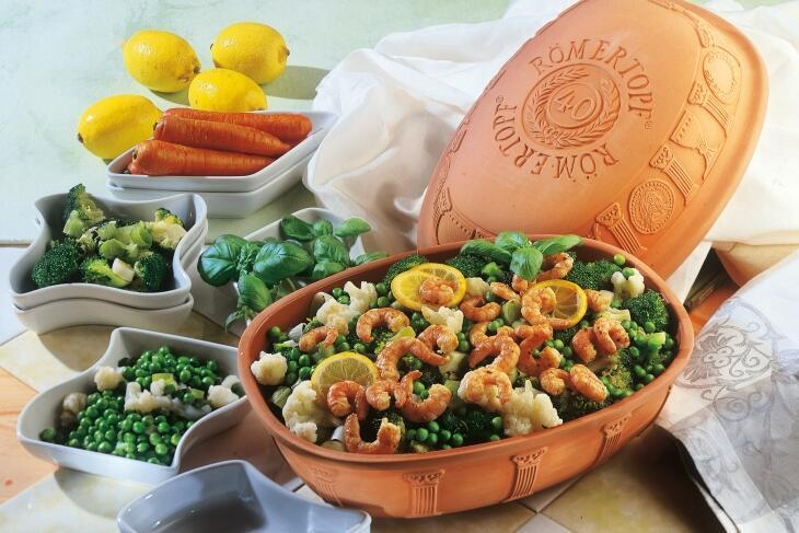 Gemüse Allerlei mit Krabben