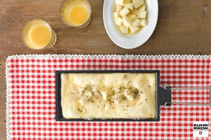 Raclette mit selbst eingelegten Rosmarin-Birnen