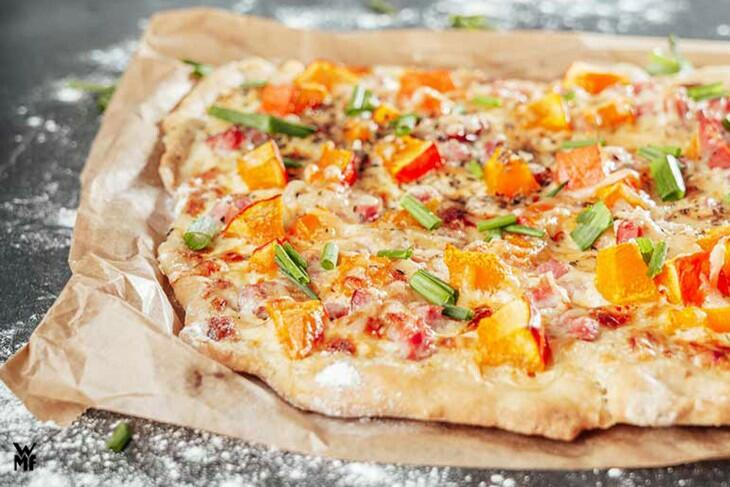 Herbstliche Kürbis-Pizza