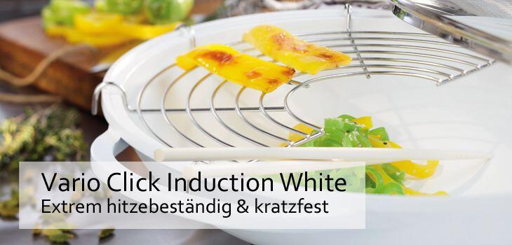 Berndes Vario Click Induction White - Extrem hitzebeständig & kratzfest