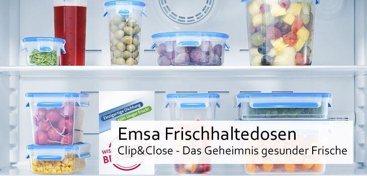 Emsa Frischhaltedosen Clip & Close - Das Geheimnis gesunder Frische