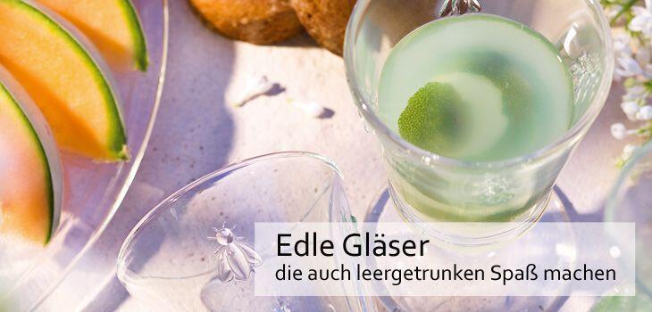 Gläser, die auch leergetrunken Spaß machen