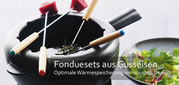 Fonduetöpfe aus Gusseisen - optimale Wärmespeicherung für lange Fondueabende