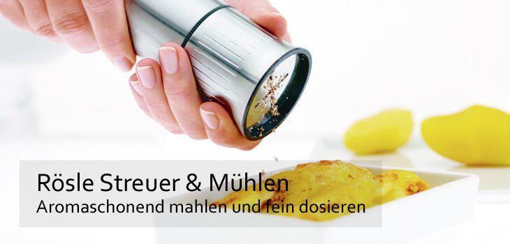 Rösle Streuer & Mühlen - Aromaschonend mahlen und fein dosieren