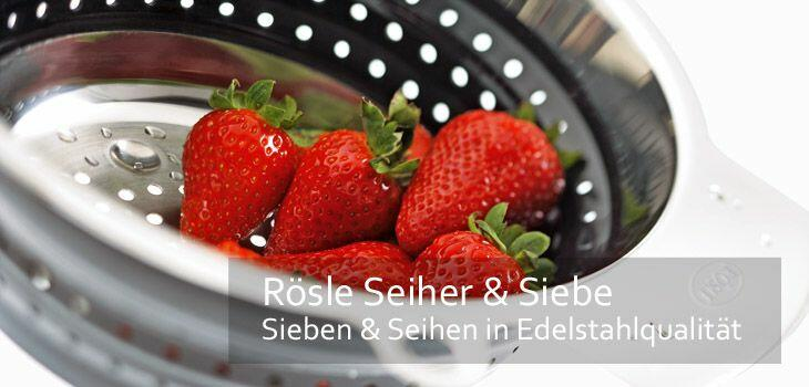 Rösle Seiher & Siebe - Sieben & Seihen in Edelstahlqualität