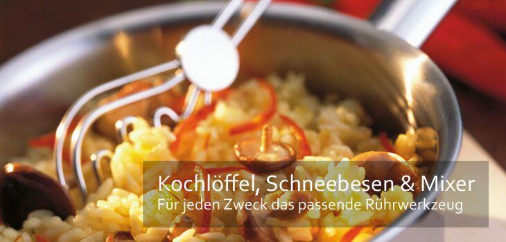 Kochlöffel, Schneebesen & Mixer - Für jeden Anlass das passende Rührwerkzeug