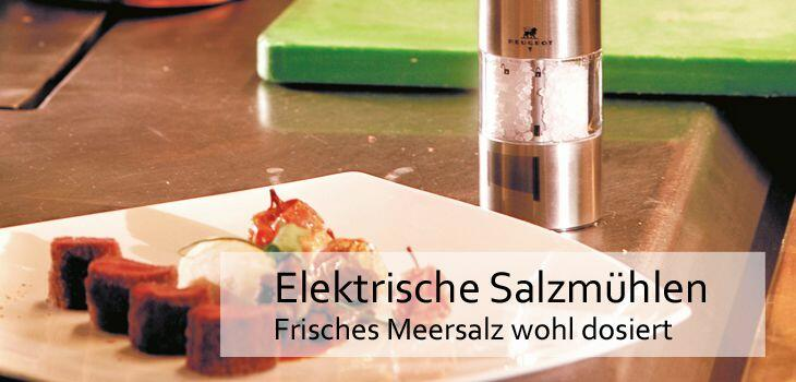 Elektrische Salzmühlen - Frisches Meersalz gemahlenes wohl dosiert
