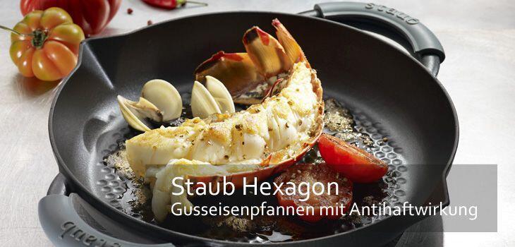 Staub Hexagon - Gusseisenpfannen mit Antihaft-Wabenboden