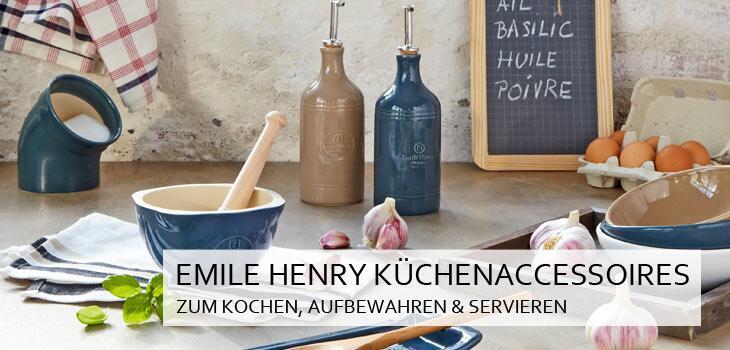 Emile Henry Küchenaccessoires zum Kochen, Aufbewahren & Servieren