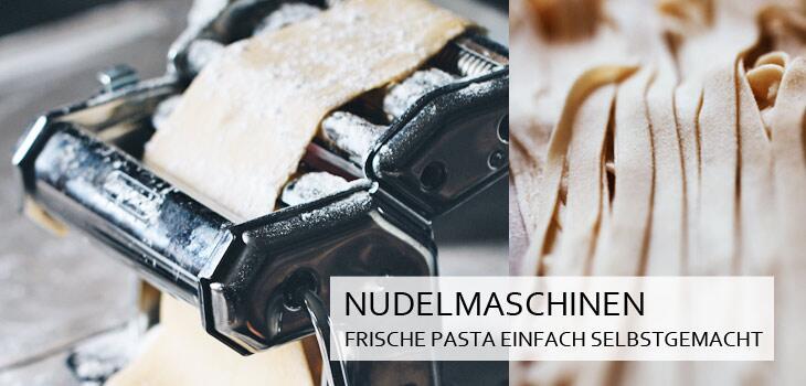 Selbstgemachte Pasta mit einer original italienischen Nudelmaschine