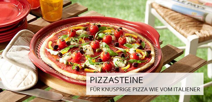 Pizzasteine & Pizzahelfer - Backen, schneiden und servieren von Pizza