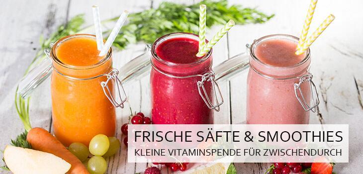 Frische Säfte & Smoothies - Kleine Vitaminspender für Zwischendurch