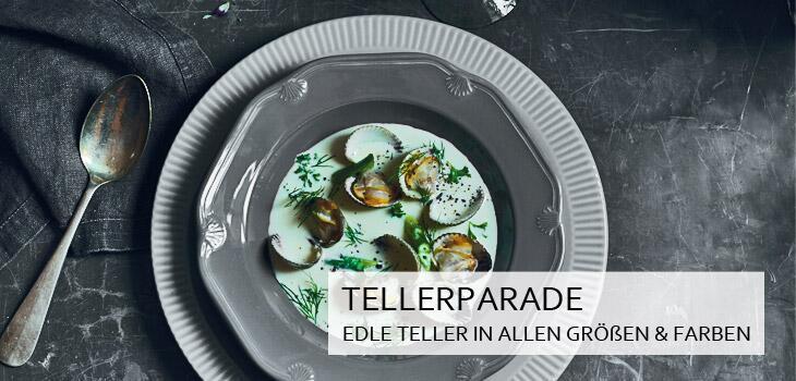Tellerparade - Edle Teller in allen Größen und Farben